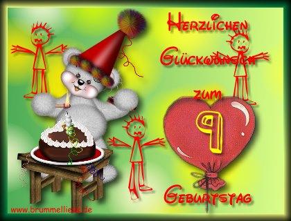 Gluckwunsch Zum 9 Geburtstag Hylen Maddawards Com