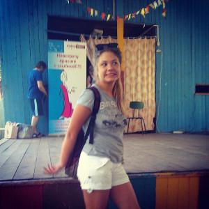 Оля Ковалёва в спортивно-оздоровительном лагере Пламя