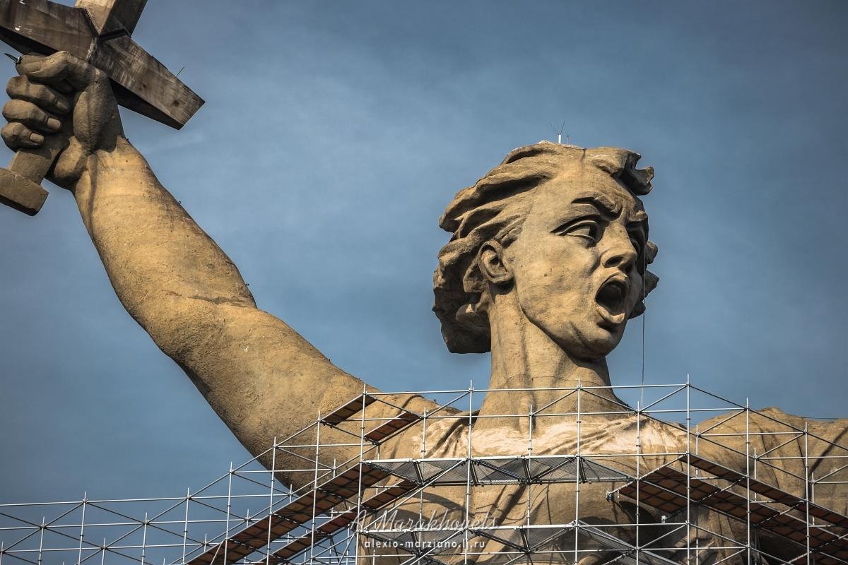 Родина-мать зовёт, реставрация, Волгоград