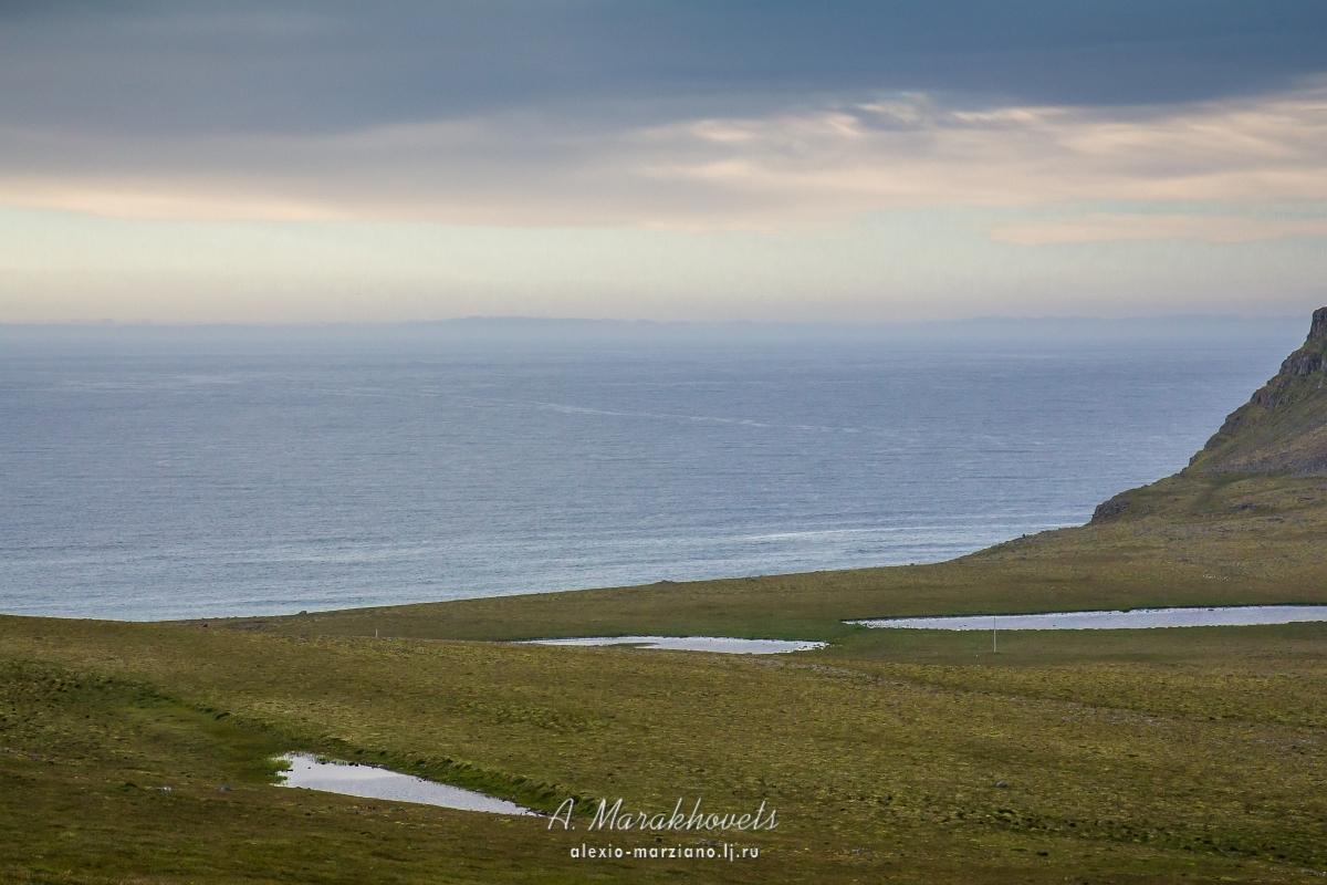 Исландия, Западные фьорды, фата-моргана