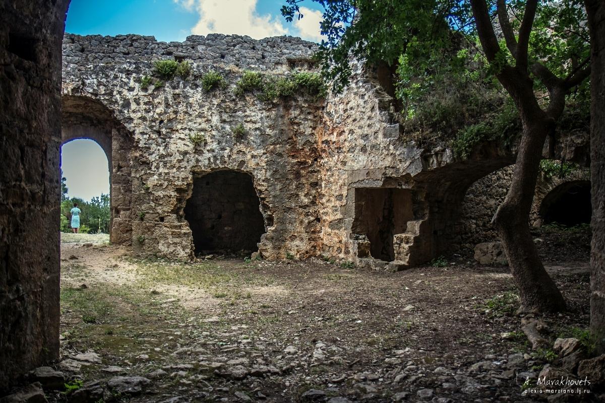 Greece, abandoned castle, Греция, заброшенный замок