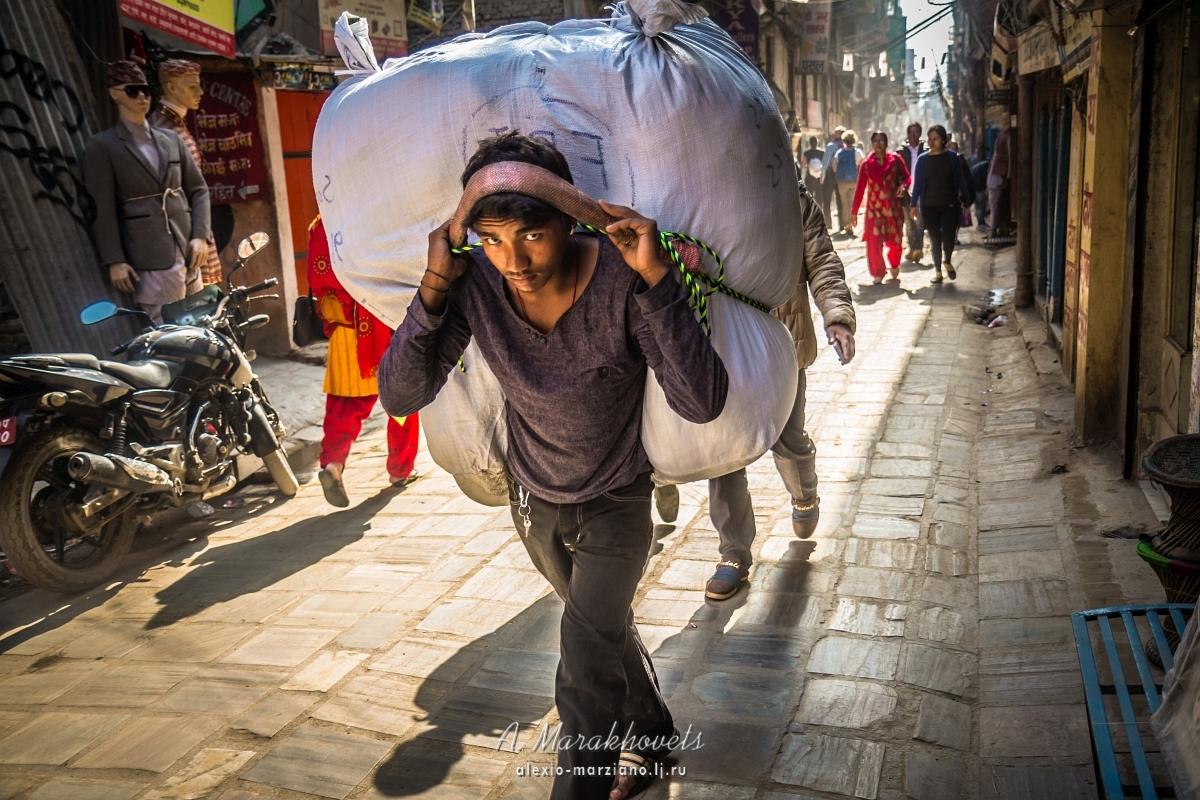 непал, портер, шерпы, гималаи, эверест