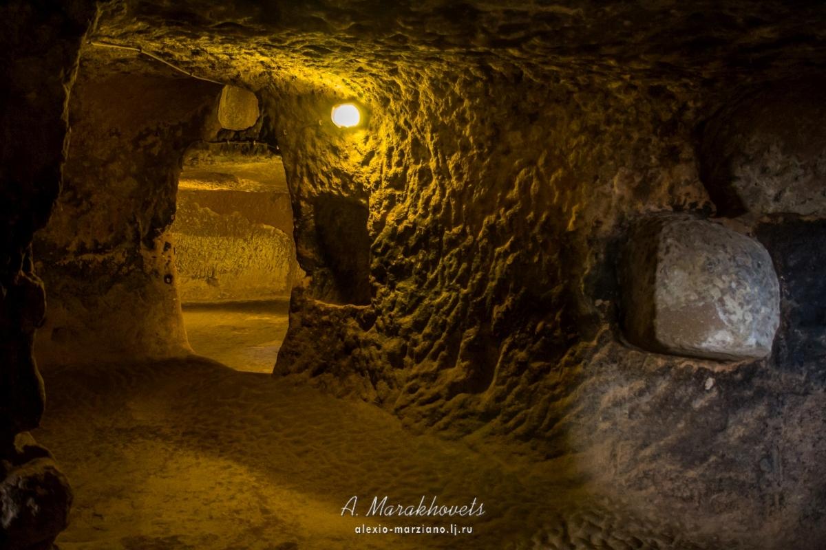 Озконак, подземный, город, Каппадокия, Турция, Ozkonak