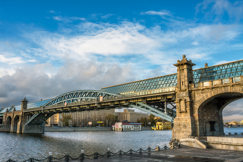 андреевский мост в москве фото днях девушка