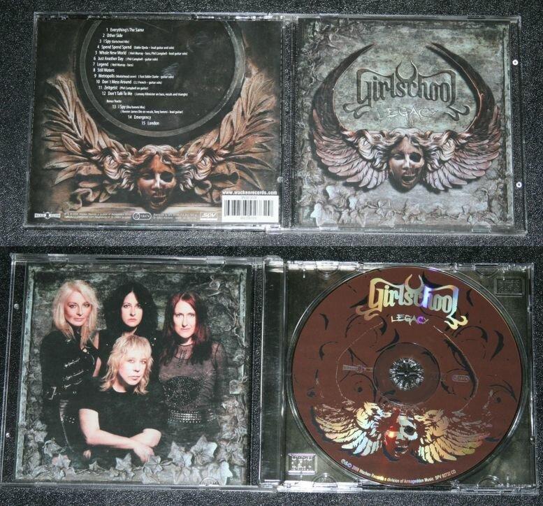 """CD-выпуск альбома Girlschool """"Legacy"""". На виниле, к сожалению, он пока что не выпускался."""