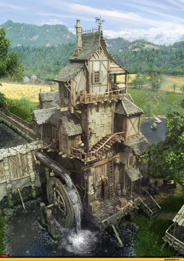 красивые-картинки-3D-мельница-684585