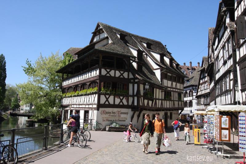 Страсбург, набережная реки Иль