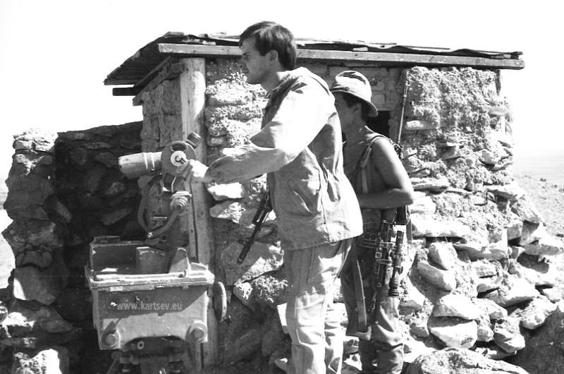 Афганистан, гора Тотахан (отм. 1641 м.), 10 км. южнее Баграма, 1986 г.,