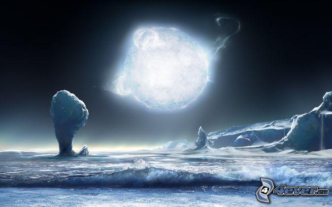 paysage-glaciaire,-etoile-bleue-155431