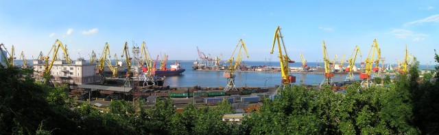 Одесский морской торговый порт Панорама