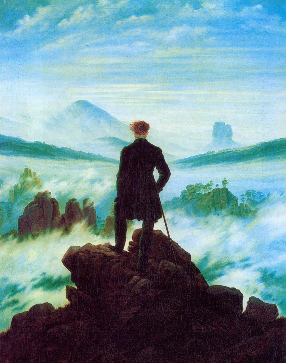 10-Friedrich,Viandante sul mare di nebbia 1818