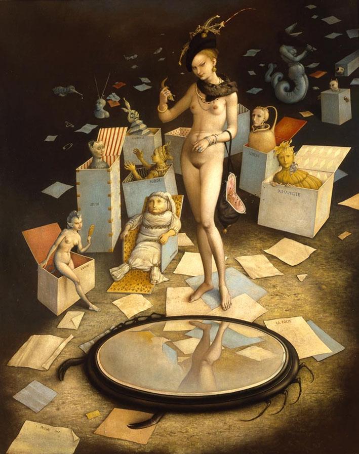 Claude Verlinde 1927 - French Surrealist painter - Tutt'Art@ (8)