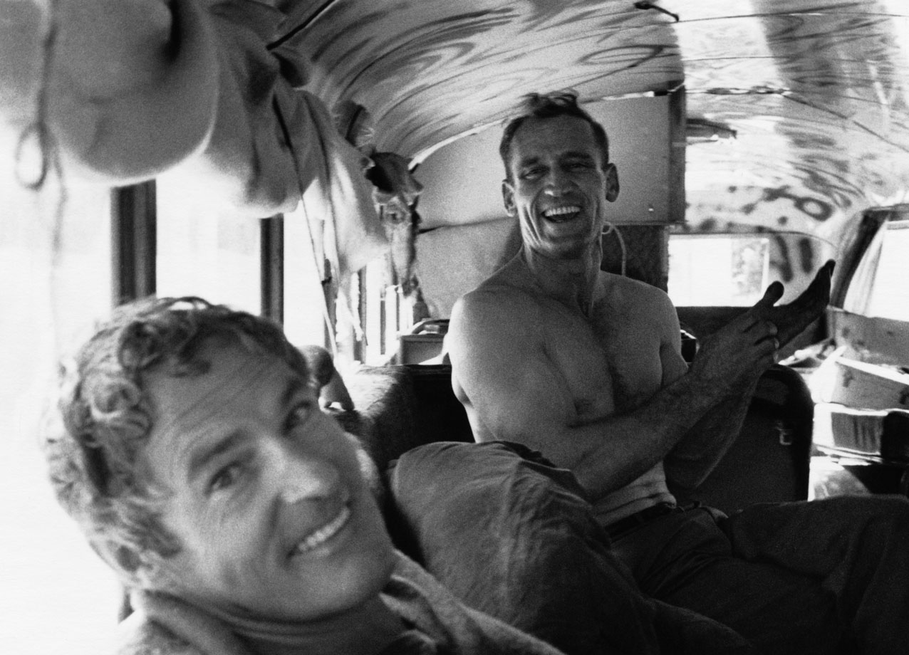 TO USE THIS STILL YOU MUST CREDIT. Timothy Leary and Neal Cassady in MAGIC TRIP, a Magnolia Pictures release. Photo  Allen Ginsberg, CORBIS.