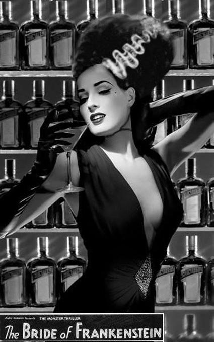 Dita von Teese as the -Bride of Frankenstein-23