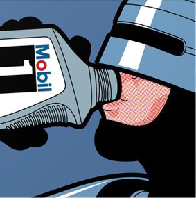 The secret life of heroes - Robot Drink Art Print by Greg-guillemin