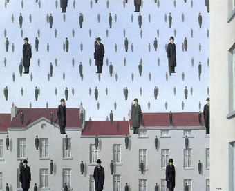 Rene-Magritte-Golconda