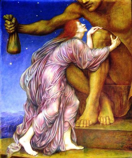 Поклонение Мамоне, картина Эвелин де Морган