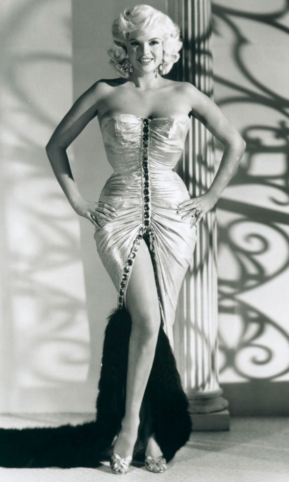 ayne Mansfield Flaunted An Incredible Hourglass Body, 1957