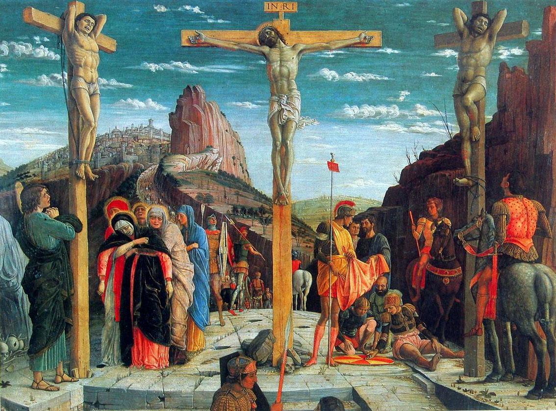 распятие Mantegna_1457-60 Pala San Zeno8