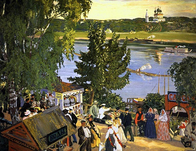 Kustodiev_promenade_Volga