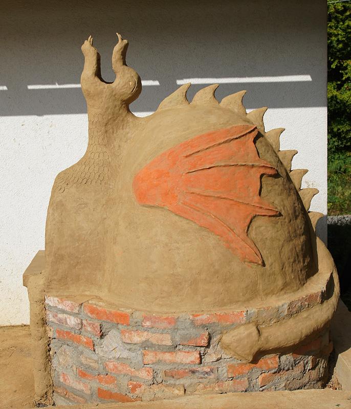 глиняная печь Дракон