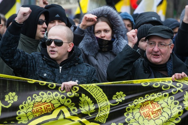 Виктор Мидитарёв на русском марше 2012