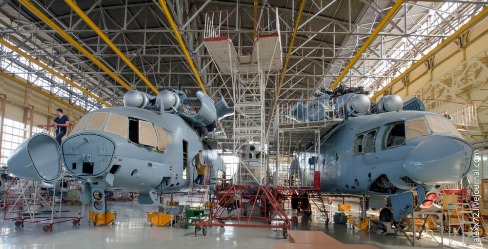 Как собирают МИ-26Т - самый большой вертолет в мире