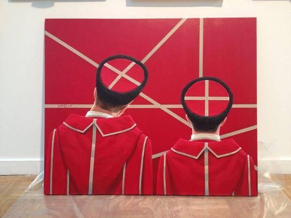 Казаки на выставке современного искусства