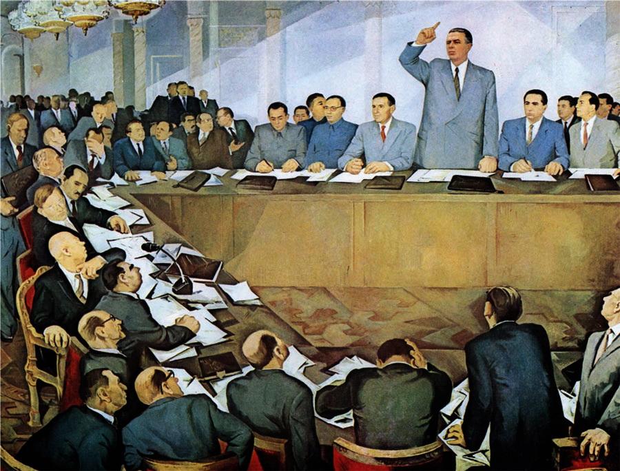 Энвер Ходжа обличает советских ревизионистов на Московском совещании представителей 81 коммунистических и рабочих партий 16 ноября 1960 года