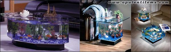 столик - аквариум