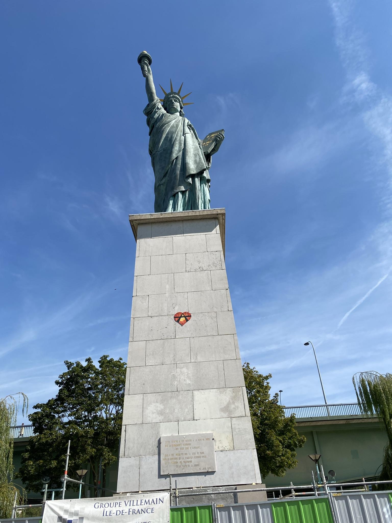 1. Статуя Свободы на Лебяжьем острове.