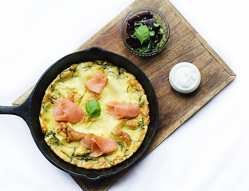 Yorkshire Pudding with Salmon