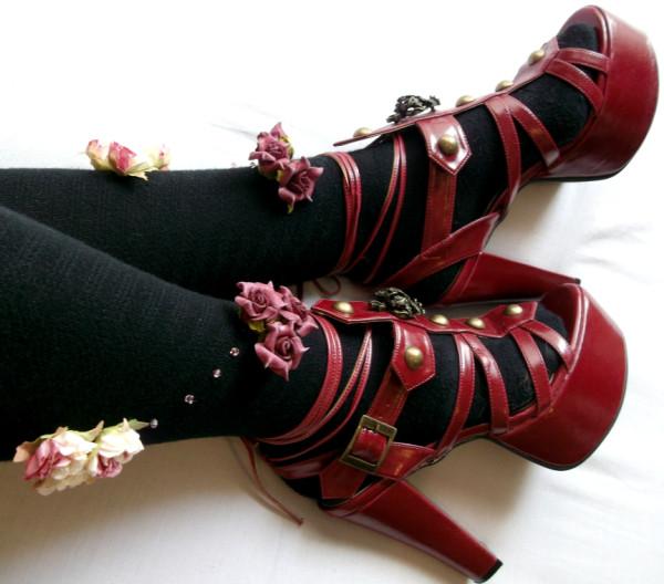 Flower socks and AatP sandals