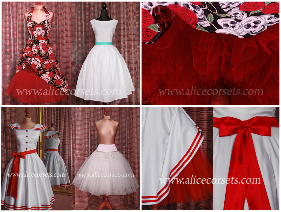 Wedding dresses in the style of the 50s hipsters.