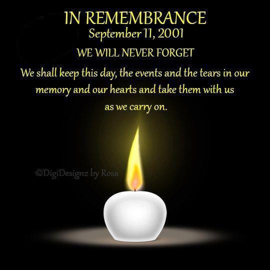 September 11, 2001 memorial photo