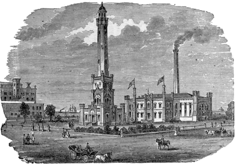 Chicago_Water_Tower_&_Pumping_Station,_published_1886