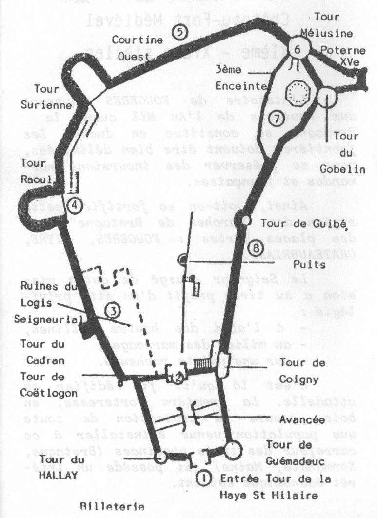 Fougeres - Plan