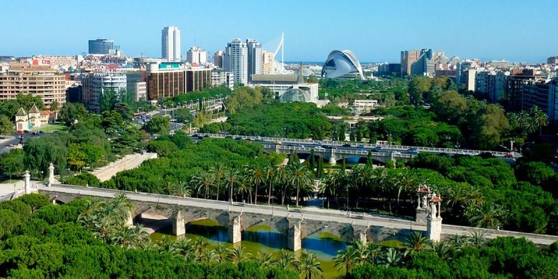 Валенсия: Городской парк Турия - маленький рай в русле реки