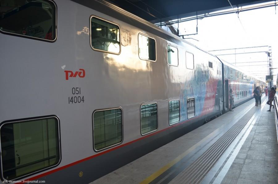 Скорый поезд москва сочи двухэтажный фото