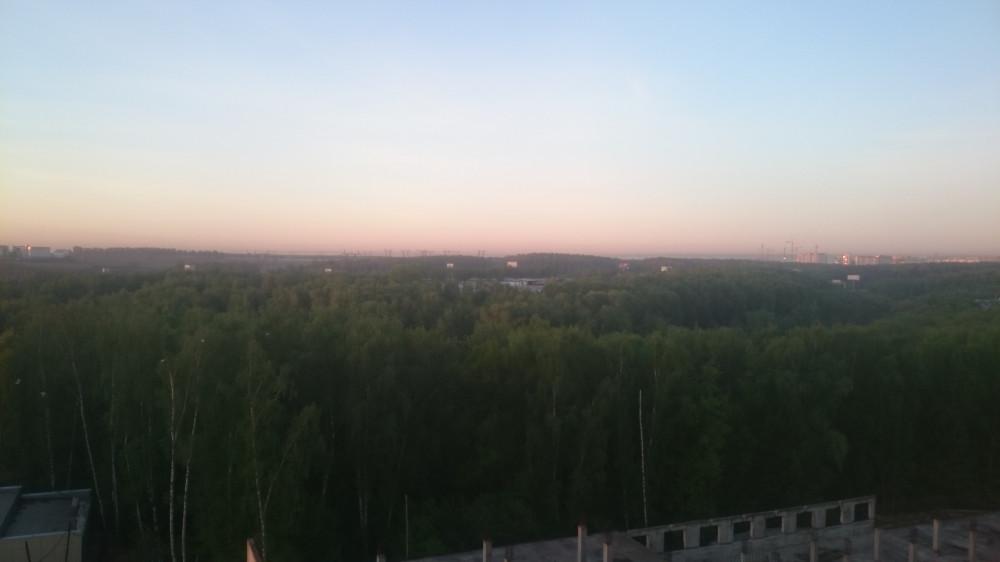 Вид из окна моей палаты. Встречаем рассвет