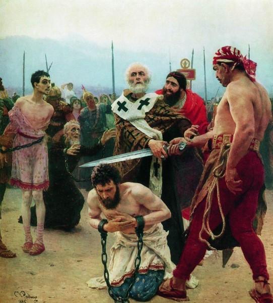 Николай-Чудотворец-из-Миры-в-Ликии-избавляет-от-смерти-трёх-невинно-осуждённых.-1888-89-542x600