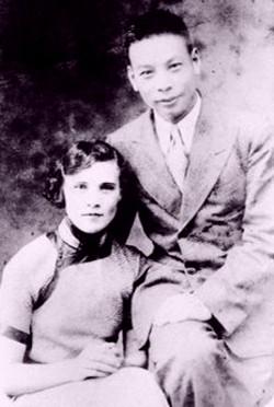 Коля Елизаров с женой Фаиной