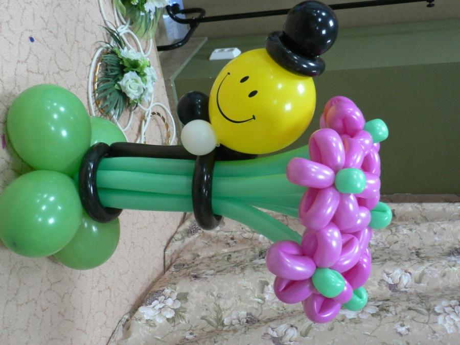 могут украшения из надувных шаров с пошаговыми фото такой лестницы