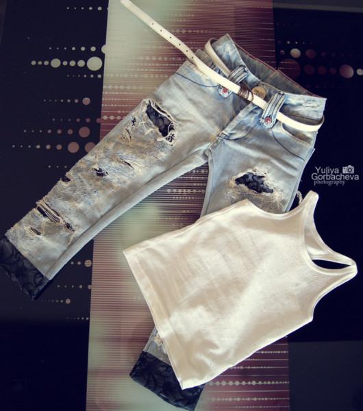 Рваные джинсы своими руками фото мастер класс
