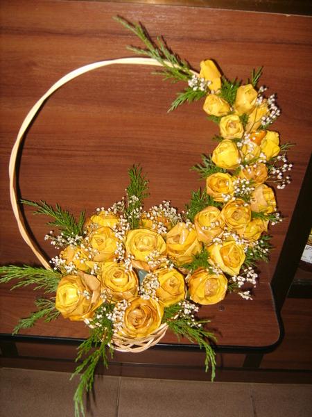 Поделки из цветов с природных материалов