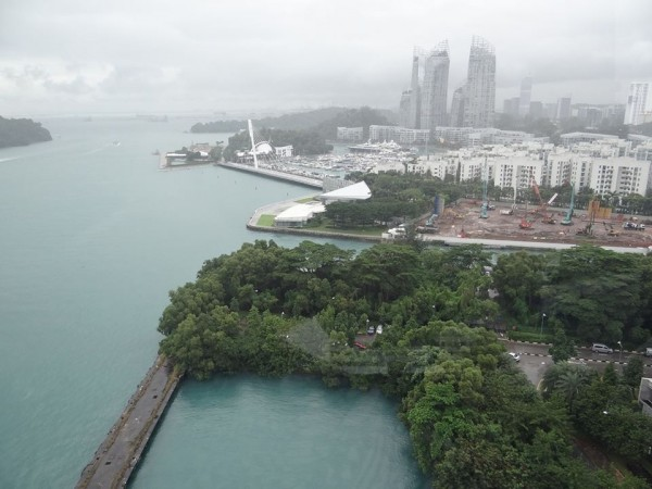 Сингапур, вид из кабинки