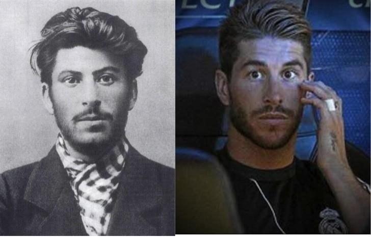 Сталин и Серхио Рамос.Разница 100 лет