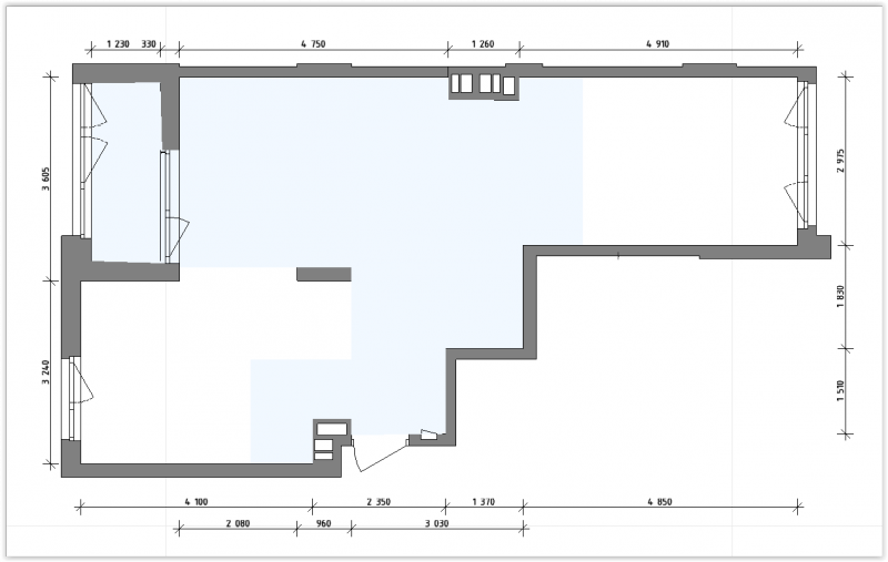 Планировка квартиры 58м2