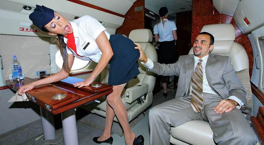 На смотреть самолета ебля борту