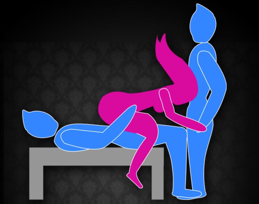 Необычные позы для секса втроем